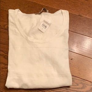 Loft white light sweater elbow length small